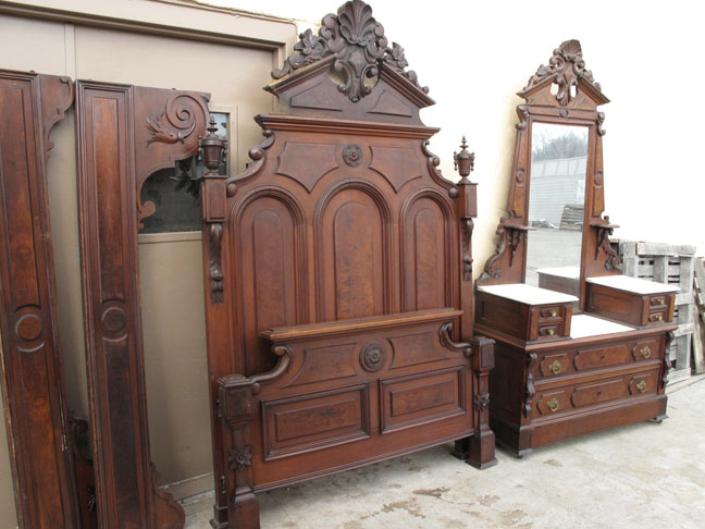 Mitchell rammelsberg piece walnut bed set