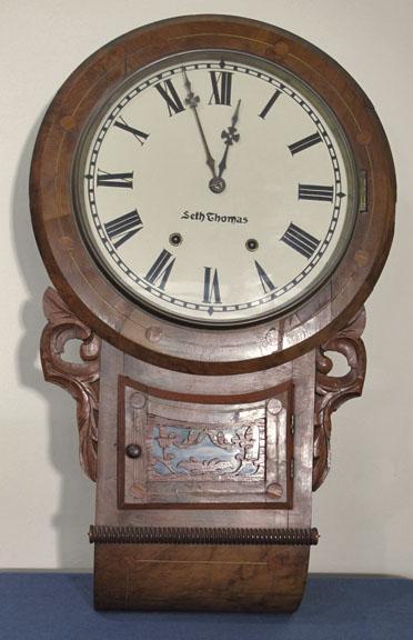 Seth thomas burl wall clock for Seth thomas wall clocks value