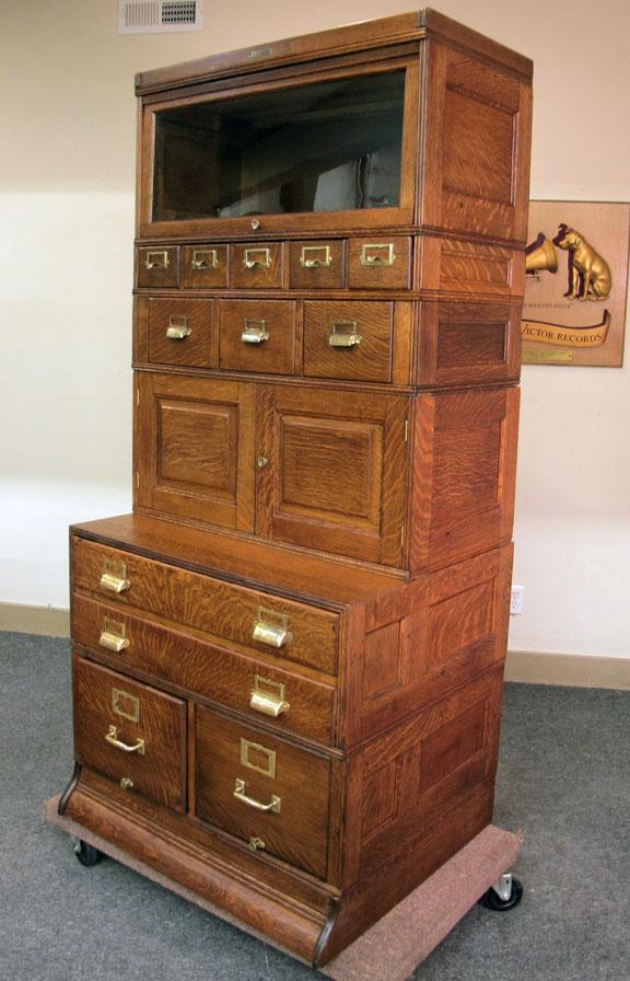 Yawman Amp Erbe Quartersawn Oak Stacking 6 Section File Cabinet